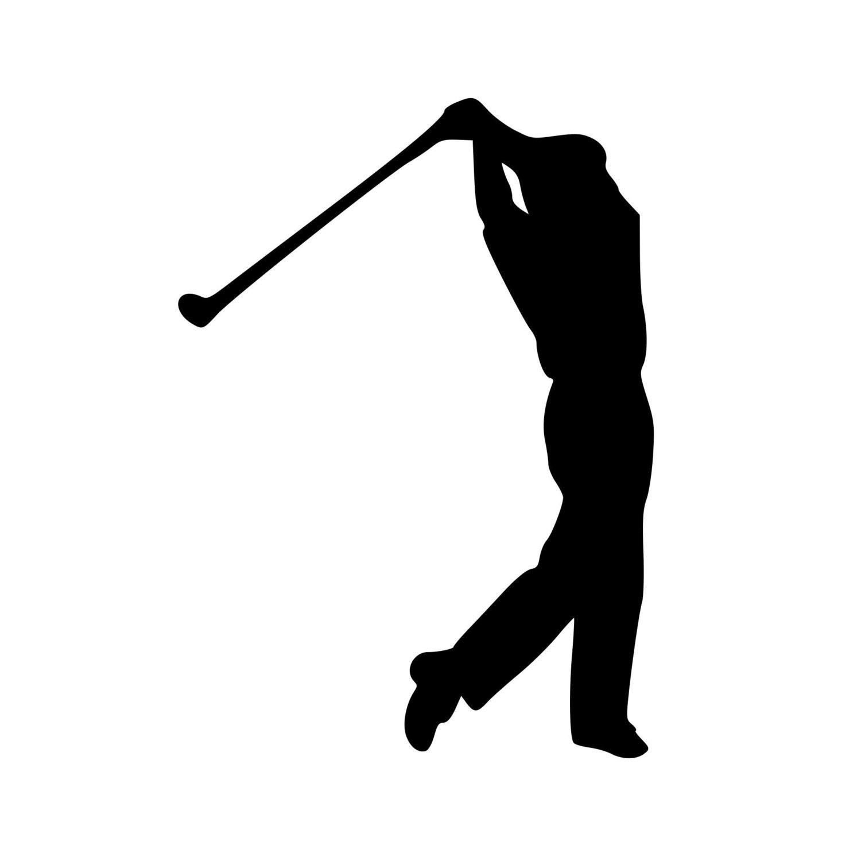 Golf Golfing Man Tee Shot Drive Swing Driver Vinyl Decal Sticker 5 5 Quot X 4 Quot Free