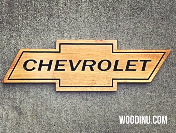 Chevy Man Cave Decor : Chevrolet sign man cave decor car by woodinyousigns