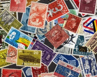 50 Diff Netherlands Postage Stamps, Dutch Stamps, Postage Stamps, Dutch Postage Stamps,Stamps, Netherland Stamps, Holland