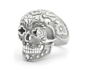 Day of the Dead Catrina Mexican Silver Ring