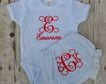 Personalized Onesie and Bloomer Outfit