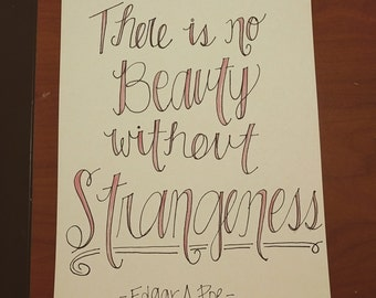 There is no beauty without strangeness Edgar Allen Poe quote