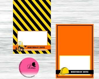 Construction Food Tents, Food Labels, Instant Download - Digital File