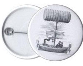 Steampunk airship badge