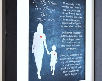 1 Gift For Mother Of The Groom Personalized Art Print Special Thank You