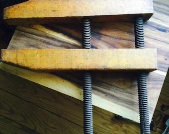 Vintage wood clamp