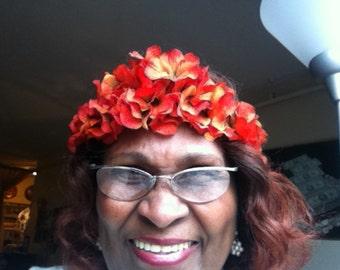 Elastic Flowered Headband