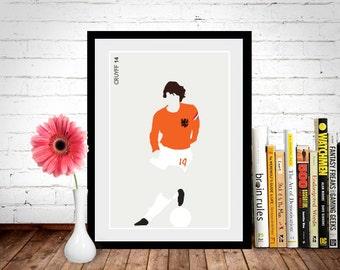 Johan Cruyff Poster, Football Poster, Football Print
