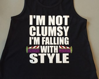 Falling with style, Buzz Lightyear Custom shirts, tank or short or long sleeve.