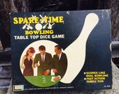 Spare Time Bowling, Table Top Dice Game, Vintage 1960s, Lakeside Toys, Family Fun, Extra Score Pads, Instructions Included