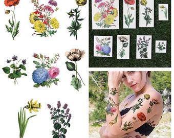 The Secret Garden - Temporary Tattoos (Set of 16)