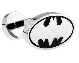 Silver and Black Batman Cufflinks