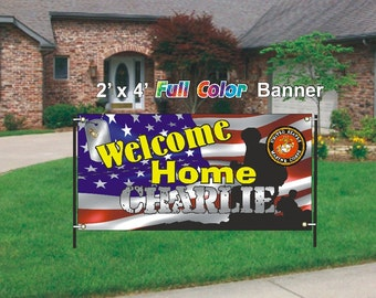 Marines - Welcome Home Banner