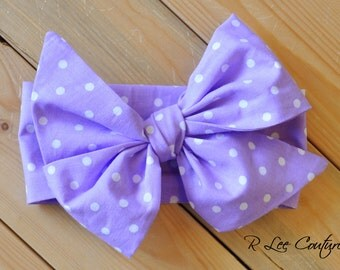 Purple Headwrap - Purple Headband - Purple Bow
