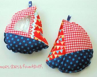 Patriotic stars and banners Sailboat I Spy bag