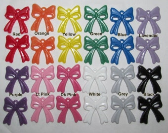 Resin Solid Opaque Miniature Bow Bows Hair Dress Up Jewelry Costume Cosplay Accessories Accent Earrings Gift Wrap Trim Girls Jewelry