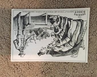 The Deering Steel Binder Advertising Card, 1800's