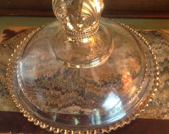Antique Gilded Glass Lid
