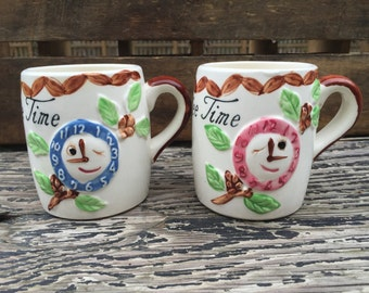 Ceramic Coffee Cup Set, 1950's
