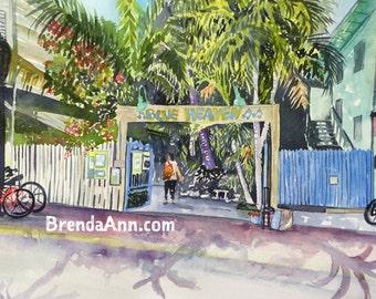 Blue Heaven in Key West - Archival Print               by Brenda Ann