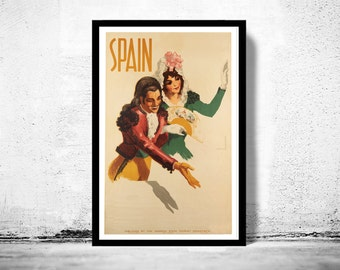 Vintage Poster of Spain, Travel Poster Tourism 1941