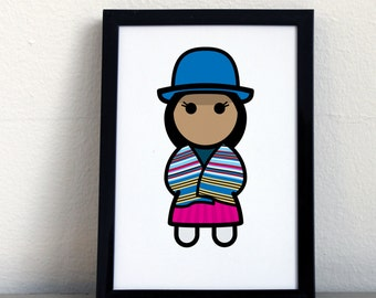 Card 020·F  Aymara woman from Bolivia