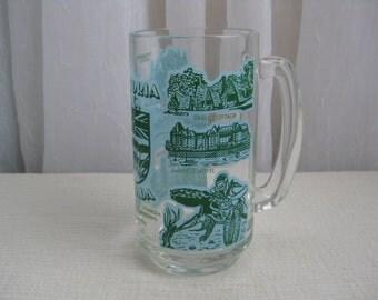 Vintage Victoria BC Canada Souvenir Glass Mug