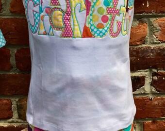 Sz 5T to 8 applique shirt set