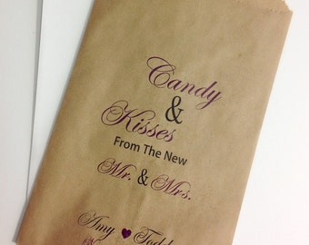 Candy Buffet Bags, Wedding Candy Favor Bags, Bags For Candy, Candy Bar Bags