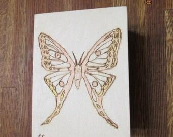 Butterfly Pine Jewlery Box