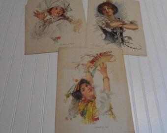 Dances of Nations Litho Prints - 1913 Associated Sunday Magazines - The Kinneys