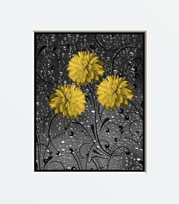 Bathroom Art Grey: Yellow Gray Bathroom Wall Art Photography Yellow Bath Decor
