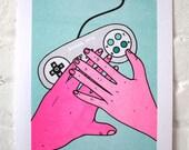Gamer love / Risograph print