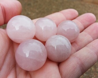 Rose Quartz A Grade Sphere ~ One 20mm Reiki infused crystal ball, sphere, marble