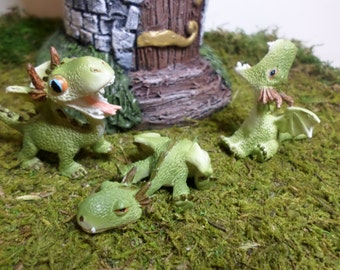 Miniature Dragons Fairy Garden Miniature Gardening Enchanted Garden Fairy Garden Kit  Garden Whimsey Terrarium Kit Miniature Castle