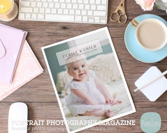 Portrait Photography Magazine Template - 24 Pages - PG014 - INSTANT DOWNLOAD