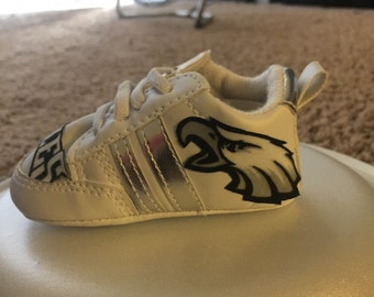 Loley pops creations Eagles baby shoes this creation is made by me and not affiliated with NFL