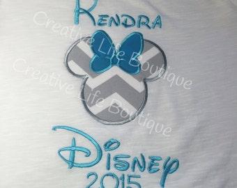 Disney Mickey or Minnie in Chevron - Adult