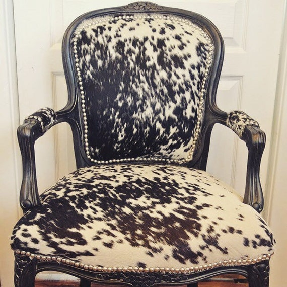 classic cowhide french chairs. Black Bedroom Furniture Sets. Home Design Ideas