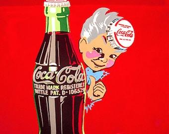Red Vintage Vendo 44 Coke Cola Machine Coca-Cola Fine Art Photography Print Wall Hanging