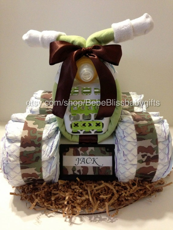 Luv My Camo Baby 4 Wheeler Diaper Cake