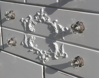 furniture embellishments. furniture appliques / mouldings embellishments architectural pieces shabby chic onlays distressed l