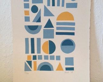 Geometric Screen Print #2