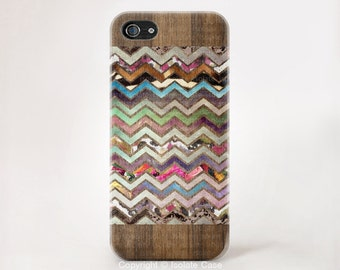 iPhone 6 case  Floral Chevron on wood Floral iPhone wood iPhone 5 case iphone4s wood iPhone 5c floral case