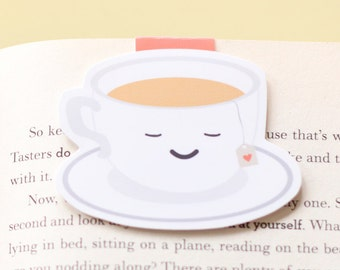 Tea cup magnetic bookmark