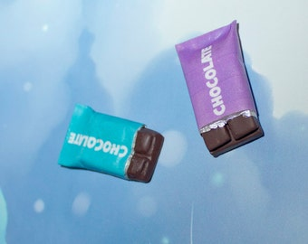 Miniature Food Jewelry Chocolate Bars