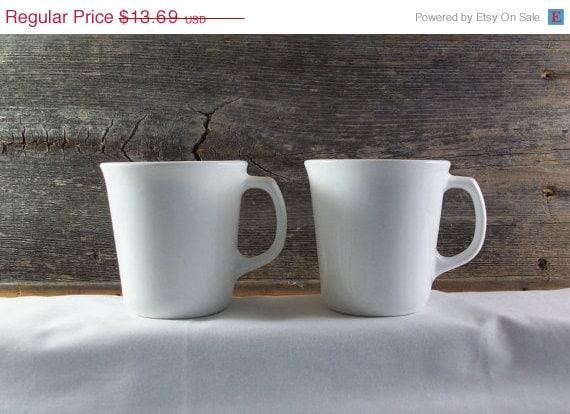 Happy July 4th Corningware Winter Frost Set of 2 Coffee Mugs Corelle Livingware