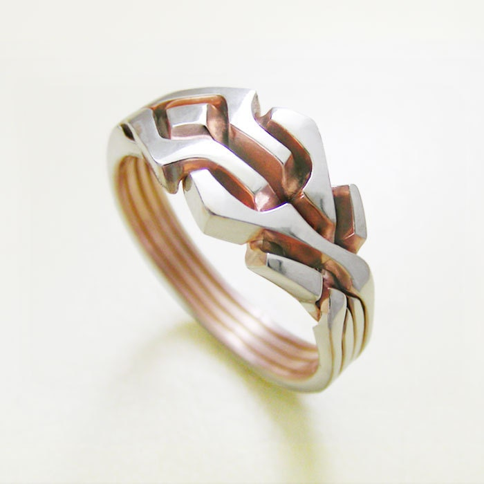 maze unique puzzle rings by by puzzleringmaker on etsy