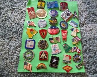 A Nice Lot of vintage Lapel Pins---Lot 7