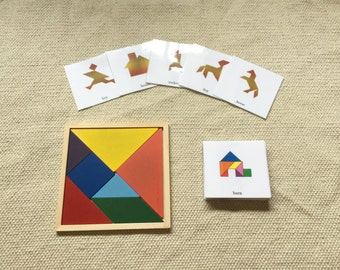 Wooden Tangram Puzzles with Solution